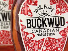 Buckwud Canadian Maple Syrup ::: by brand opus Brand Packaging, Packaging Design, Innovative Packaging, Canadian Maple, Pure Maple Syrup, Label Design, Graphic Design, Bottle Design, Bottle Labels