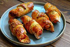 Grove pølsehorn med gulerødder og solsikkekerner