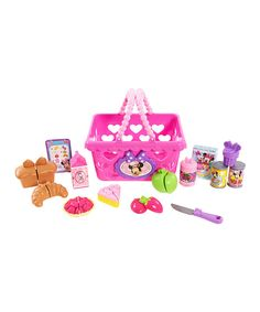 Look at this Minnie Mouse Bowtastic Shopping Basket Set on #zulily today!