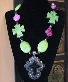 Double Cross me... oh my.. see more of my uniques handmade jewerly on my facebook page.. the SASSY RANCH... you're gonna love it