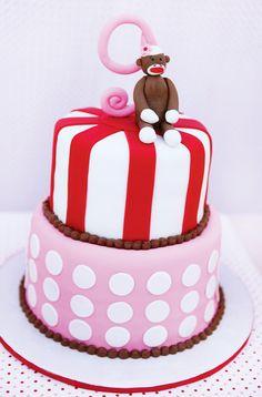Girly Sock Monkey Themed Birthday Party