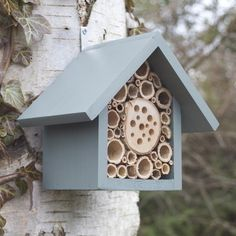 Bee Hotel and Insect House, single tier, in Wild Thyme.