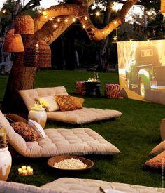 Beautiful back yard relaxation.
