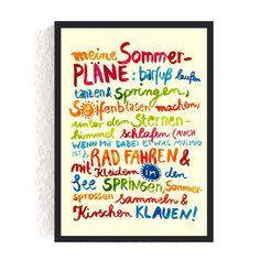 Print *Sommer* #sommer #sommerpläne #meinsommer