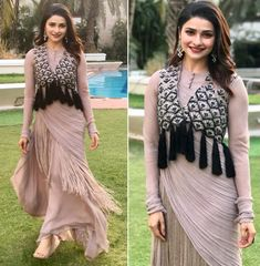 Designer Party Wear Dresses, Kurti Designs Party Wear, Indian Designer Outfits, Pakistani Dresses, Indian Dresses, Indian Outfits, Stylish Dresses, Fashion Dresses, Bollywood Fashion