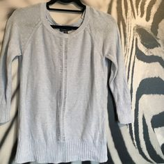 Baby blue sweater Baby blue sweater from American Eagle Outfitters. Very soft 100% cotton. 3/4 sleeves. Size XS. In excellent preloved condition with no stains or tears. American Eagle Outfitters Sweaters Crew & Scoop Necks