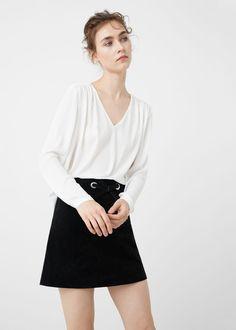 Flowy blouse -  Woman | MANGO  26eu