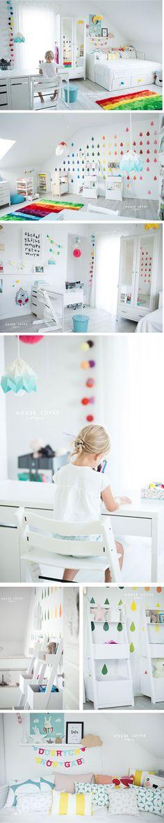 amazing rainbow room, kidsroom, girlsroom - on the blog HOUSE LOVES - see more inspiration