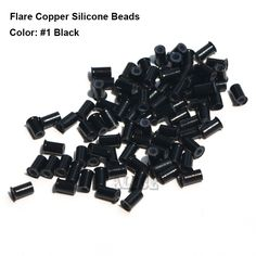 Flare Silicone Copper Micro Links 4.0*3.0*6.0MM Microring Metal Dreadlock Dread Cuff Silicone Beads For Hair Extensions