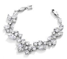 Affordable Elegance Bridal - Mosaic CZ Wedding Bracelet in Silver Rhodium - Petite Size , $63.99 (http://www.affordableelegancebridal.com/mosaic-cz-wedding-bracelet-in-silver-rhodium-petite-size/)