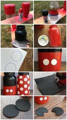 DIY Mickey Mouse & Minnie Mouse Mason Jar Money Banks for Your Next Disney World Vacation How to Make Mickey and Minnie Mouse Mason Jars – Disney Crafts Ideas Disney Diy, Mason Jar Projects, Mason Jar Crafts, Diy Projects, Bottle Crafts, Minnie Mouse Party, Mickey Mouse Crafts, Mickey Mouse Classroom, Mickey Mouse Birthday Decorations