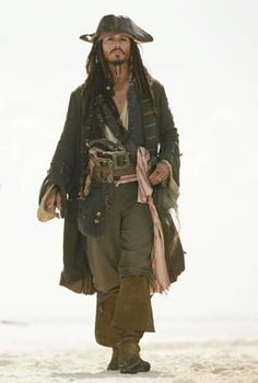Johnny Depp in the Pirates of the Caribbean Movies