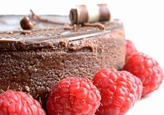 Prevention's Fat Belly Diet Chocolate Desserts... chocolate-raspberry cheesecake