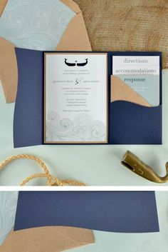 Nautical Wedding Invitations, Wedding Invitation Card Design, Pocket Invitation, Wedding Invitation Inspiration, Wedding Invitation Samples, Wedding Inspiration, Invitation Ideas, Wedding Stationary, Invites