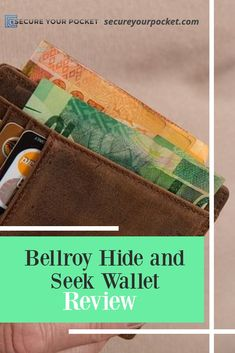 Bellroy Hide and Seek Wallet is a great choice for men who want the luxury of a classic leather wallet and the benefits of modern features. Simple Wallet, Rfid Blocking Wallet, Classic Leather, Vegan Leather, Leather Wallet, Organize, Wallets, Personal Style, Money