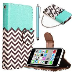 iPhone 5C case, iPhone 5C Wallet Case, ULAK Fashion Chevron Pattern PU Leather Wristlet Wallet Magnetic Flip Stand Case For Apple iPhone 5C with [Credit Card Slots] [Screen Protector] and Stylus (FOLLOW THE SKY) ULAK http://www.amazon.com/dp/B00H3GCOKI/ref=cm_sw_r_pi_dp_uf3Hub1TA6ZXX