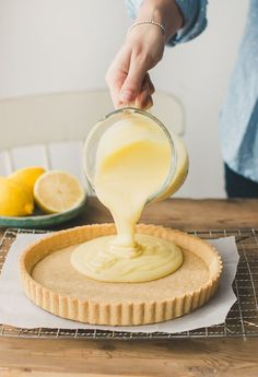 a traditional french-style lemon tart with creamy, dreamy lemony filling that was the inspiration behind our lemon custard shower gel!