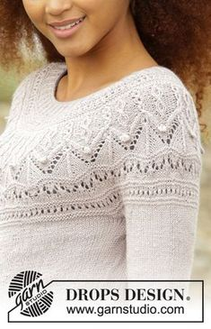 Crystal bright / DROPS - free knitting patterns by DROPS design - Crystal bright / DROPS – free knitting patterns by DROPS design - Knitting Blogs, Sweater Knitting Patterns, Knit Patterns, Free Knitting, Knitting Projects, Finger Knitting, Knitting Machine, Drops Design, Reverse Braid