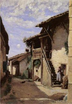 A Village Street, Dardagny - Camille Corot