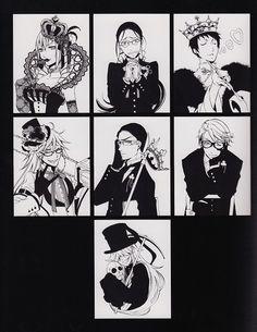Yana Toboso, Kuroshitsuji, Black Butler Artworks 1, Lau, Angelina Durless