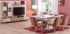 Geometrik desenlere yer verilen tasarımıyla modern evlere en çok yakışacak parçalardan biri olan Zenn Yemek Odası takımı, birinci sınıf malzemeden üretilmiştir ve konforlu bir kullanım sunar. Office Desk, Corner Desk, Furniture, Home Decor, Corner Table, Desk Office, Decoration Home, Desk, Room Decor