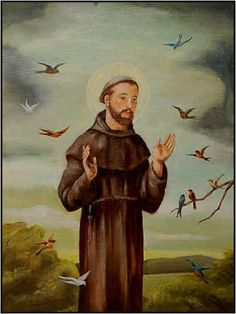 St Francis of Assisi, patron saint of birds and animals.