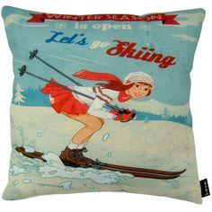 """Let's Go Indoor/Outdoor Pillow, 18"""" x 18"""""""