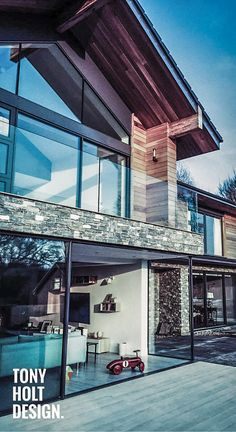 66 best tony holt self build designer projects images on pinterest tony holt design completed lodge style new build with natural stone cladding glass and malvernweather Gallery