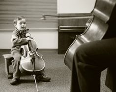 Cello lessons.  The beginning of a special relationship. #cello