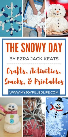 The next time you read the popular picture book, The Snowy Day by Ezra Jack Keats, be sure to include some fun and memorable activities to go with it. There are lots of crafts, activities, snacks, and printables you'll enjoy on this list at My Joy-Filled Life. You'll find lots more story time ideas there too! #storytime #thesnowyday #picturebooks Rhyming Activities, Time Activities, Hands On Activities, Learning Activities, Winter Activities For Kids, Preschool Ideas, Art For Kids, Crafts For Kids, Snowy Day