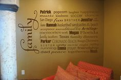 A friend of mine just got one of these for her wall with all their names and meaningful words and it is AWESOME!