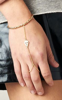CROSS RING CHAIN BRACELET SHOP PUBLIK | PUBLIK | Women's Clothing
