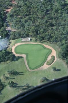 Spectacular 19th hole. Legends Golf and Safari Lodge. Photo taken from the helicopter on the way up to the tee box.