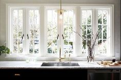 Those windows  | #kitchen #windows #home #countrylife