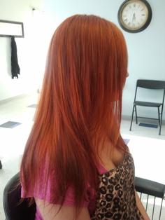 ... with orange kicker 20 vol more color cut color fusion 8ro redken hair