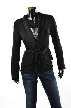 Guess Marciano Coats Womens Black Outerwear Long Wool