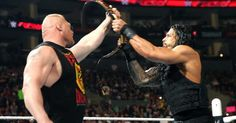 Raw photos for March 23. WrestleMania opponents Roman Reigns and WWE World Heavyweight Champion Brock Lesnar go face to face on Raw.