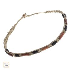 Wood Beaded Hemp Necklace by Forty-Teen.   #Hemp #Beaded #Necklace #Beads #Wood #Accessories #Necklaces #fashion #sexy #clothing #style #love #womens #women #jewelry #fortyteen