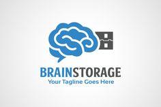 Brain Storage Logo by gunaonedesign on Creative Market