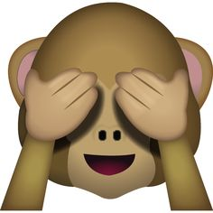 When you don't want to see anything evil, this closed eyed monkey shows that you're trying to behave! Animated Emoticons, Funny Emoticons, Funny Emoji, Ios Emoji, Smiley Emoji, Emoji Monkey, Emoji Pictures, Emoji Images