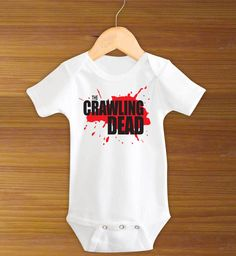 The Crawling Dead Walking Dead Funny Baby Zombie One by ToLTot, $11.99