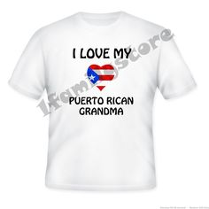 I Love My Puerto Rican Grandma from 1familystore on Square Market