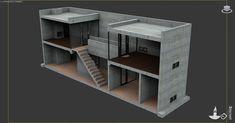 [ Tadao Ando S Row House ] - Best Free Home Design Idea & Inspiration Tadao Ando, Casa Farnsworth, Row House Design, Patio Interior, Shipping Container Homes, Bunk Beds, Corner Desk, The Row, Design Inspiration