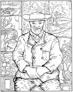 Colour me wonderful fine art colouring pages on for Fine art coloring pages
