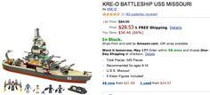 KRE O BATTLESHIP USS MISSOURI only for $28.53 lowest ever