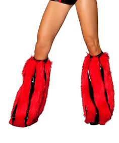 Red and Black Striped Fluffies $49.99