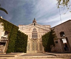 Basilica of the Annunciation, Nazareth, Israel -traditionally revered as the location where the angel Gabriel told Mary that she would give birth to Jesus.