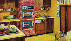 Vintage Kitchen Ads | Remarkably Retro, Tappan kitchen appliances ad, 1965