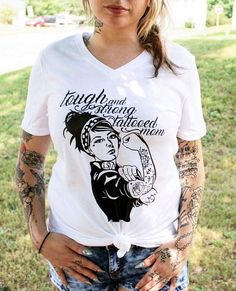 Mama Tattoo, Trendy Tattoos, Mom, Trending Outfits, Mens Tops, Vintage, Etsy, Awesome, Fashion