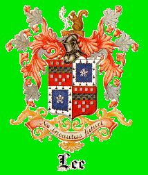 One version of the Lee family crest. One of the crests framed on hallway or stairwell wall.
